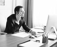 Young manager in the office Royalty Free Stock Photos