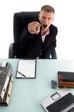 Young manager pointing in an office Stock Photography