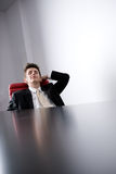 Young manager relaxing Royalty Free Stock Photo