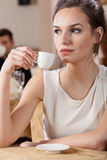 Young manager in restaurant royalty free stock photo
