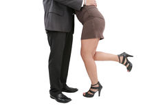 Manager seducing his secretary Stock Image