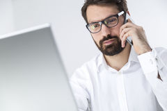 Free Young Manager Talking To The Client On The Phone Stock Images - 83421844