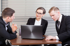 Young managers at meeting Stock Photos