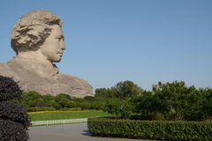 Changsha Orange Isle Young Mao Zedong statue Stock Photography