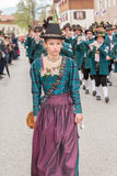 Young Mark Eden provider in Dirndl Royalty Free Stock Photo