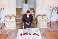 Young marriage celebrant performing marriage Stock Photo