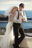 Young marriage couple on the calm honeymoon Stock Photography