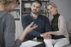 Marriage during marital therapy stock photo