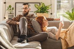 Young marriage spending free time royalty free stock photos