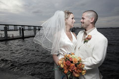 Young married couple Stock Images
