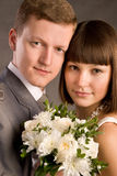Young married couple close-up Stock Photo