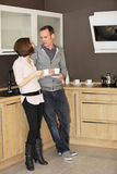 Young couple enjoying coffee Stock Images