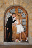 Young married couple is kissing Stock Photos