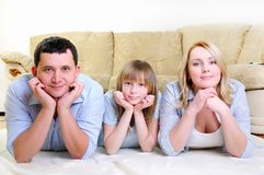 Young married couple and their daughter Stock Image