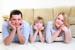 Young married couple and their daughter Royalty Free Stock Image