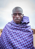 Young Masai acting for me to take picture Stock Images