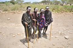 Young Masai men Royalty Free Stock Images