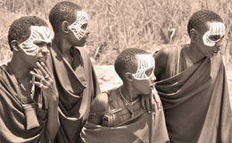 Young Masai men Stock Photos