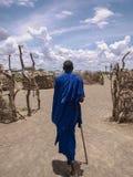 Young masai walking Royalty Free Stock Photo