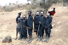 Young Masai Warriors Stock Photos