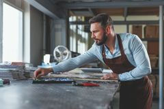 Young master at work Royalty Free Stock Images