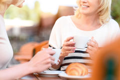 Young and mature women resting in cafe Stock Photography