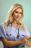Young medical assistant Stock Image