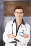 Young medical doctor in uniform Royalty Free Stock Image