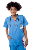 Young medical doctor woman Royalty Free Stock Photos