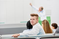 Young medical school student. In university lecture royalty free stock photography