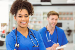 Young medical student smiling at the camera Royalty Free Stock Images