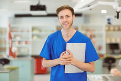 Young medical student smiling at the camera Stock Image