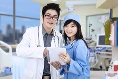 Young medical team at hospital Royalty Free Stock Image
