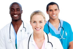Young medical team smiling at the camera Royalty Free Stock Images