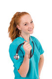 Young medical trainee Stock Images