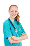 Young medical trainee Royalty Free Stock Photos