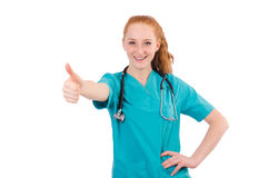 Young medical trainee Stock Image