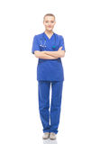 Young medical worker isolated on white Royalty Free Stock Images