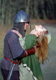 Young medieval couple Royalty Free Stock Images