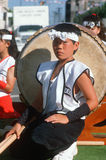 Young member of the drum corp Royalty Free Stock Photo