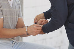 Young men arrested Stock Images