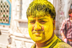 Young men celebrating Holi festival in India Stock Photography