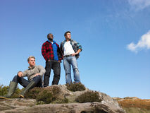 Young men in the country Royalty Free Stock Photos