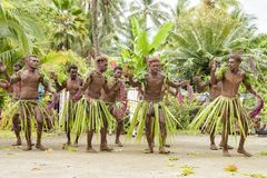 Dancer Solomon Island, South Pacific Ocean. Young men of dancing ceremony on Solomon Islands Royalty Free Stock Image