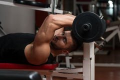Young Men Doing Exercise For Triceps Royalty Free Stock Image