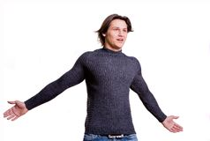 Young men dressed in modern clothes Stock Photography