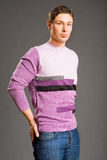 Young men dressed in sweater Stock Photo
