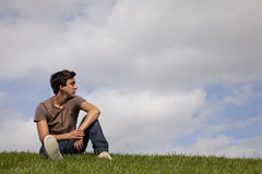 Young men future Royalty Free Stock Images