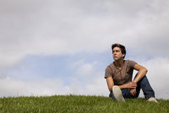 Young men future Royalty Free Stock Photo