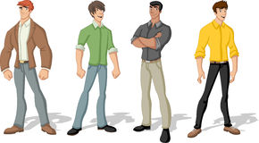 Young men Stock Images